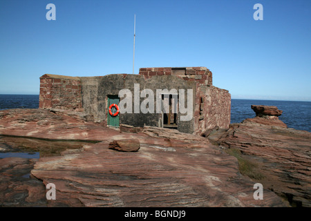 Former Lifeboat Station On Hilbre Island, The Wirral, Merseyside, UK - Stock Photo