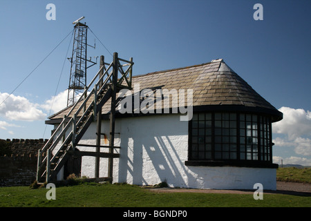 Telegraph Station On Hilbre Island, The Wirral, Merseyside, England, UK - Stock Photo