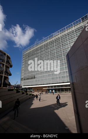 Berlaymont building, the European Commission headquarters in Brussels - Stock Photo