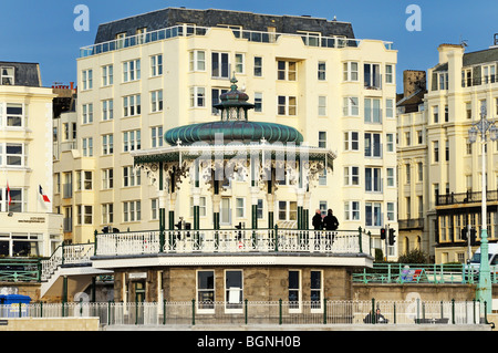 Newly restored Brighton Bandstand, Brighton and Hove, East Sussex, UK - Stock Photo
