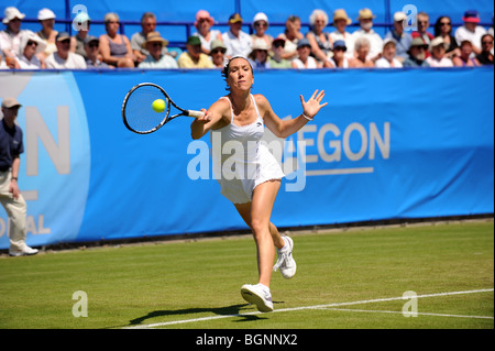 Jelena Jankovic in action at the Aegon International 2009 Tennis Championships at Devonshire Park Eastbourne
