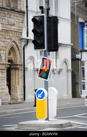 Out of order traffic lights - Stock Photo