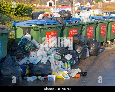 recycling collection point - Stock Photo