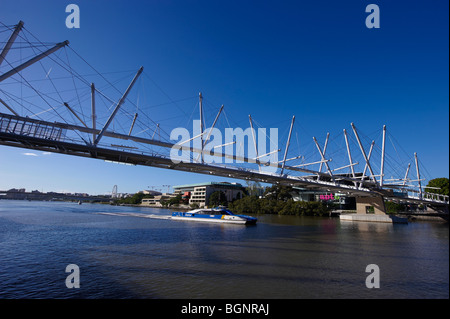 Kurilpa Bridge Brisbane Queensland Australia - Stock Photo