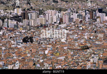 Down town La Paz, capital of Bolivia - Stock Photo