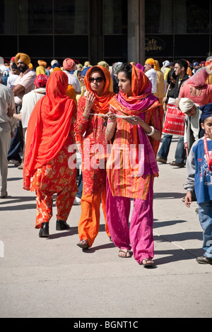 Annual spring Vaisakhi parade in Toronto, celebrating the Sikh culture - Stock Photo