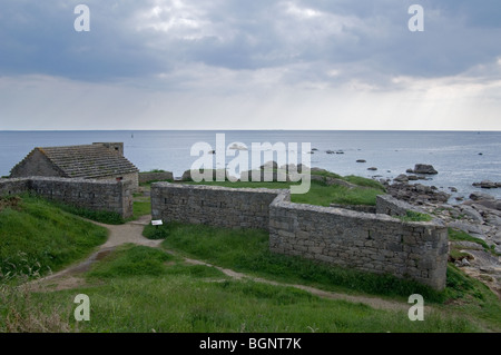 The Cabellou fortress at Concarneau, Finistère, Brittany, France - Stock Photo