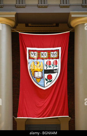 VERITAS SHIELD of HARVARD UNIVERSITY - CAMBRIDGE, MASSACHUSETTS - Stock Photo