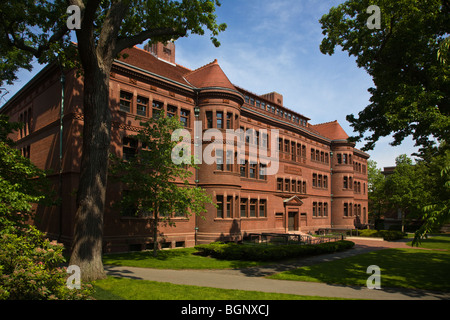 SEVER HALL was completed in 1880 and is a National Historic Landmark at HARVARD UNIVERSITY - CAMBRIDGE, MASSACHUSETTS - Stock Photo