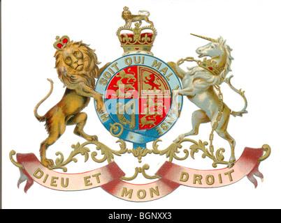 Die cut scrap of Royal Coat of Arms - Stock Photo