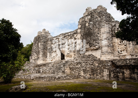 Structure III. Hormiguero Maya Ruins archaeology site, Campeche Mexico. - Stock Photo