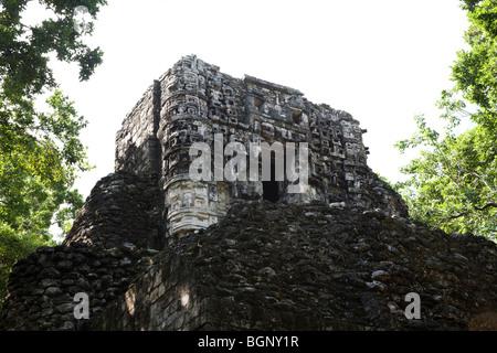 Hormiguero Maya Ruins archaeology site, Campeche Mexico. - Stock Photo