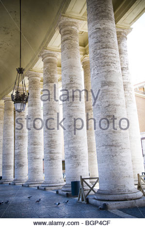 Columns in Saint Peter's Square, Rome, Italy - Stock Photo