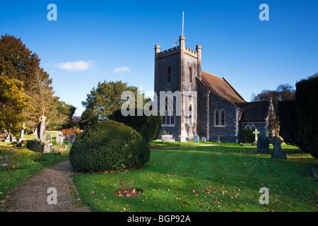St Nicholas' Church, Remenham, Henley on Thames, Oxfordshire, Uk - Stock Photo