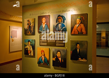 Native American Chiefs at the PEABODY MUSEUM of ARCHAEOLOGY and ETHNOLOGY at HARVARD UNIVERSITY CAMBRIDGE, MASSACHUSETTS - Stock Photo