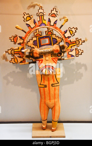 Native American KACHINA DOLL at the PEABODY MUSEUM of ARCHAEOLOGY and ETHNOLOGY at HARVARD UNIVERSITY CAMBRIDGE, - Stock Photo
