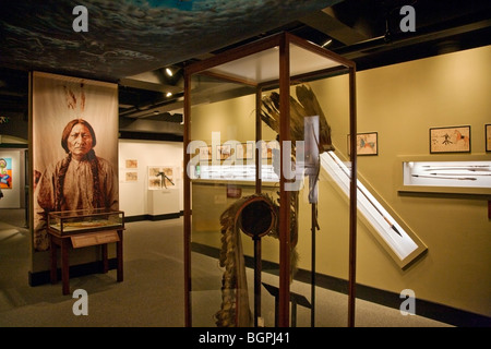 Native American display at the PEABODY MUSEUM of ARCHAEOLOGY and ETHNOLOGY at HARVARD UNIVERSITY CAMBRIDGE, MASSACHUSETTS - Stock Photo