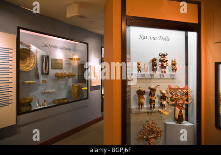 Native American KOTCINA DOLLS at the PEABODY MUSEUM of ARCHAEOLOGY and ETHNOLOGY at HARVARD UNIVERSITY CAMBRIDGE, - Stock Photo
