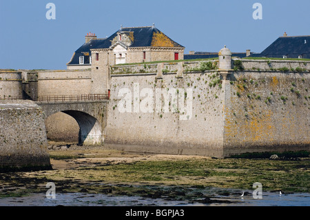 The citadel of Port-Louis, Morbihan, Brittany, France - Stock Photo