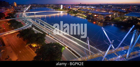 South Brisbane and North Quay - Stock Photo