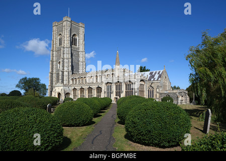 Lavenham church - Stock Photo