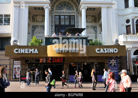 Empire cinema and casino in Leicester Square, West End, London, UK. - Stock Photo