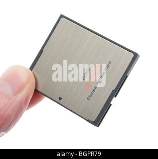 CompactFlash memory card 4GB 233X shock and magnet proof 2010 design - Samsung branding removed by retouching - - Stock Photo