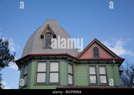 The Baker House, a historic 1898 house in Santa Paula California. - Stock Photo