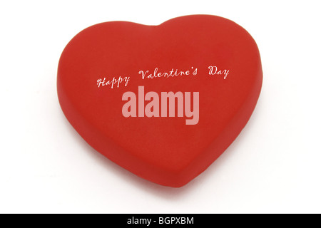 happy valentines day on heart symbol with copy space for more texts on white background - Valentines Day Texts