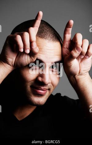 Portrait of a man. - Stock Photo