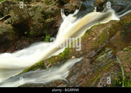 AJD62673, MI, Michigan, Upper Peninsula, Porcupine Mountains Wilderness State Park, Overlooked Falls, Little Carp - Stock Photo