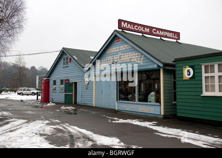 Malcolm Campbell building at Brooklands Motor Museum - Stock Photo