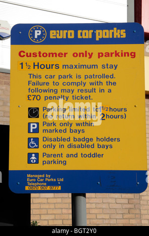 Euro Car Parks Sign In Manchester Stock Photo 152612915 Alamy