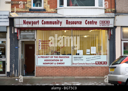 Newport Community Resource Centre in Newport South Wales UK - Stock Photo