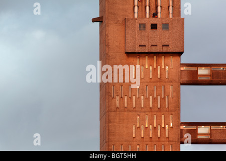 detail of west elevation of balfron tower - Stock Photo