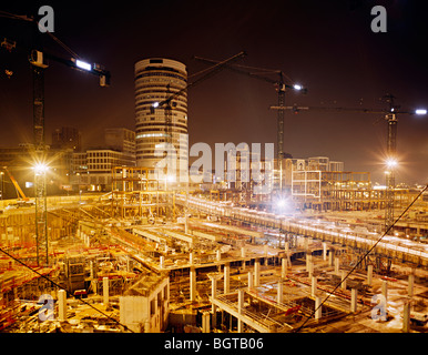 birmingham bullring construction site whilst it was being built - Stock Photo