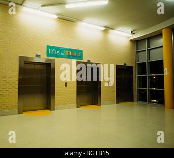 lifts in Birmingham markets leading to the car park Birmingham - Stock Photo