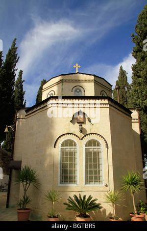Israel, Jerusalem, the Russian Orthodox Our Lady of Kazan Church in Ein Karem - Stock Photo
