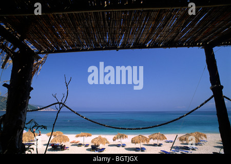 greece, ionian islands, kefalonia, agia kiriaki beach - Stock Photo