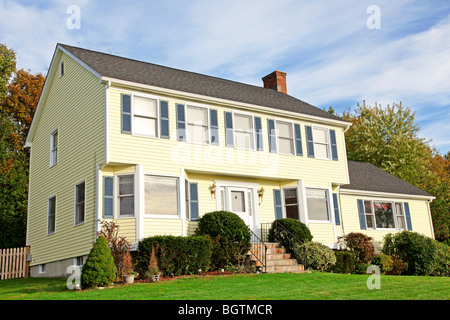 Colonial style home - Stock Photo