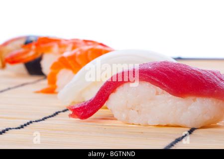 Assortment of Japanese Sushi - Stock Photo