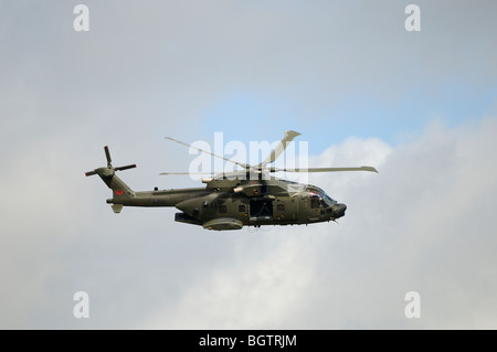 Merlin Helcopter, in training flight over Oxfordshire, UK. - Stock Photo