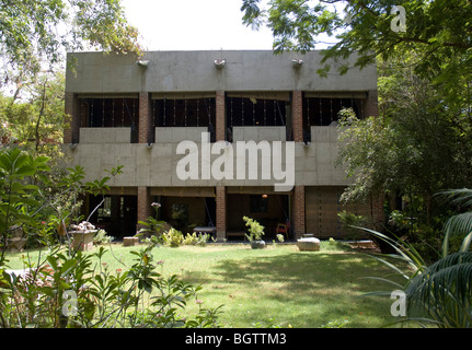 SARABHAI HOUSE, AHMEDABAD, INDIA, LE CORBUSIER - Stock Photo