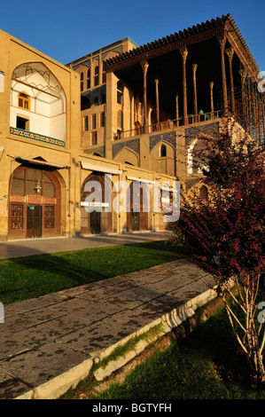 Ali Qapu palace at Meidan-e Emam, Naqsh-e Jahan, Imam Square, UNESCO World Heritage Site, Esfahan, Isfahan, Iran, - Stock Photo