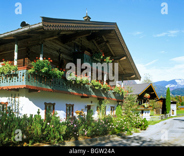 Country cottage, Lofer, Salzburg State, Austria, Europe - Stock Photo