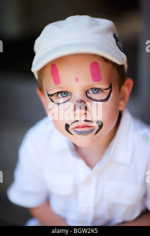 Portrait of 4 years old boy - Stock Photo