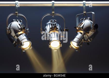Three Spotlights - Stock Photo