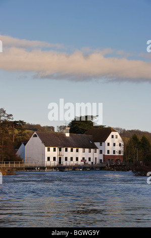 Hambleden Mill a riverside building on the River Thames in Winter - Stock Photo