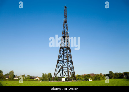 The Gliwice Radio Tower transmission tower of Gliwice, Upper Silesia, Poland, - Stock Photo