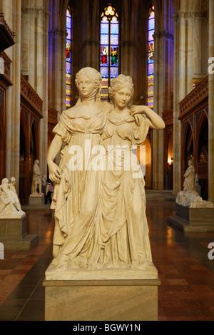 Berlin. Germany. Friedrichswerdersche Kirche aka Schinkel Museum. Johann Gottfried Schadow's sculpture of Prussian Princesses. Stock Photo